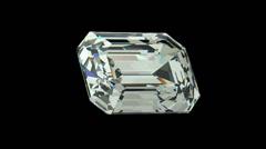 Emerald cut diamond Stock Footage