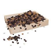 A Lot of Coffee Beans in Wooden Container Stock Illustration
