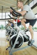 Stock Photo of Spinning class