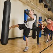 Kickboxing class Stock Photos