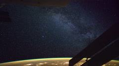 Milky Way seen from the International Space Station in Earth Orbit Stock Footage
