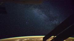 Linnunrata katsottuna International Space Station Maan kiertoradalla Arkistovideo