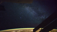 Stock Video Footage of Milky Way seen from the International Space Station in Earth Orbit