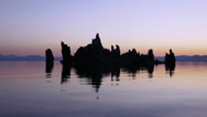 Stock Video Footage of Mono Lake Sunrise Reflection -Real Time