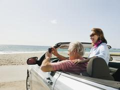 Couple on road trip Stock Photos