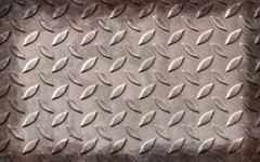 Grunge aluminum plate metal texture and background Stock Photos