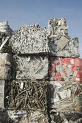 Stack of recycled metal Stock Photos