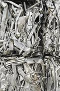Stacks of recycled metal - stock photo