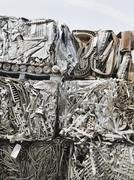 Stacks of recycled metal Stock Photos