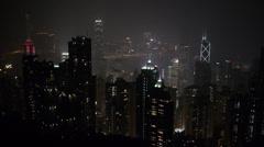 Above Hong Kong Skylight Night 2 Stock Footage
