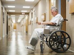 Senior man in hospital Stock Photos