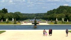 Grand Jardin - Chateau de Fontainebleau - Paris France Stock Footage