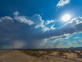 Stock Video Footage of 4K 24p Pt 2 Storm cell generates small haboob in the Arizona desert