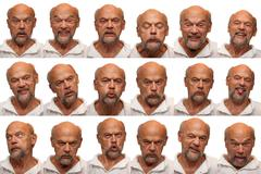 Expressions - Senior Aged Man - stock photo