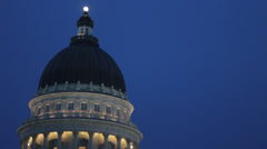 Utah Capital Building Tilt Stock Footage