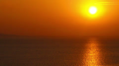 Dramatic sunset over sea. Stock Footage