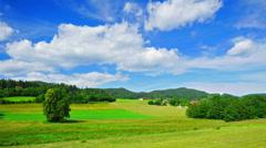 Alpine farming - stock footage