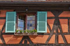 Detail of an Alsatian House - stock photo