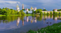 Establishing shot. Novodevichi convent. Moscow. Footage