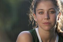 Girl in sports uniform - stock photo