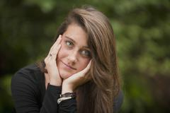 Stock Photo of Portrait of young woman