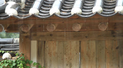 Oriental house on rainy day Stock Footage