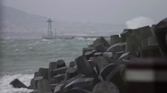 Stormy sea and weather Stock Footage
