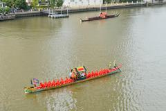 Thai royal barge procession Stock Photos