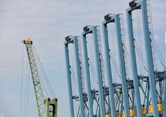 Gantry cranes Stock Photos