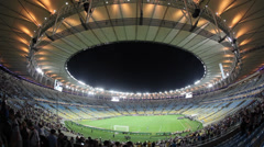Vasco defeats Fluminense 3 x 1 in a football match at Maracana Stadium Stock Footage