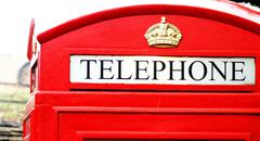 telephone box close up - stock photo