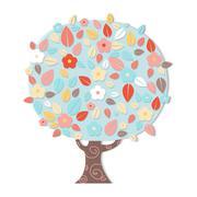 fantastic tree - stock illustration