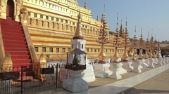 The Shwezigon Pagoda Stock Footage