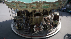 Paris Carousel at Mont Martre during Daytime Stock Footage