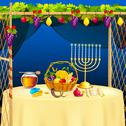 Stock Illustration of Sukkah for celebrating Sukkot