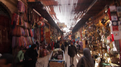 MARRAKECH - MARKET PEOPLE WALKING Stock Footage