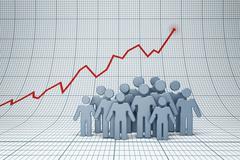 Positive trend Stock Illustration
