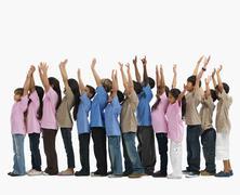 Children raising their arms Stock Photos