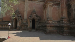 Htilominlo Temple in Old Bagan, Burma Stock Footage