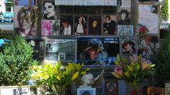 Germany Munich Promenadeplatz Pop Singer Michael Jacket memory Stock Footage