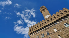 Sky over Palazzo vecchio - time lapse Stock Footage