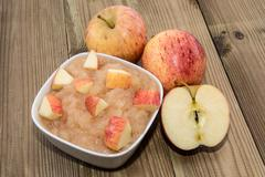 applesauce with apples - stock photo