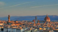 Sunrise over florence - time lapse Stock Footage