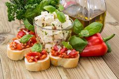 different antipasto - stock photo