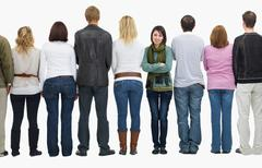 People in a line Stock Photos