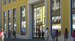 Germany Munich Downtown center Louis Vuitton flagship store in Munich Stock Footage