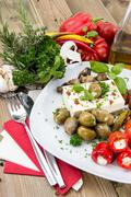 Stock Photo of mixed antipasto on a plate
