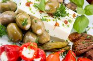 Stock Photo of different types of antipasto on a plate