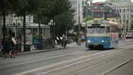 Stock Video Footage of Tram in Gothenburg, Sweden