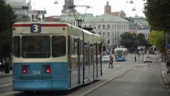 Tram in Gothenburg, Sweden Stock Footage